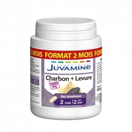 Juvamine Charbon + Levure Format Cure Longue 120 gélules