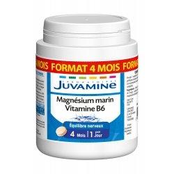 Juvamine Magnésium Marin Vitamine B6 Format 4 Mois 120 comprimés