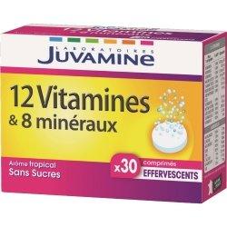 Juvamine 12 Vitamines + 8 Minéraux 30 comprimés effervescents