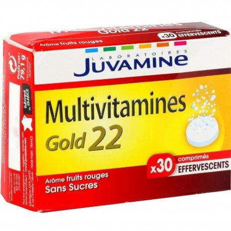 Juvamine Multivitamine Gold 22 30 comprimés effervescents
