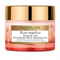 Sanoflore Rosa Angelica Baume de Rosée Ré-hydratant 48h Régénérant Nuit 50 ml