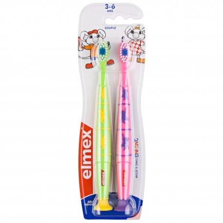 Elmex Brosse à Dents Enfant Souple 3 - 6 ans (couleurs variables)