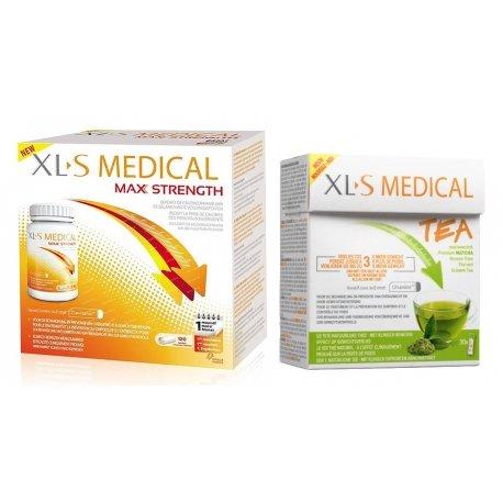 XLS Medical Pack Max Strenght/Extra Fort (120 comprimés) + Thé (30 pièces)