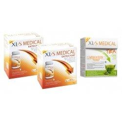 XLS Medical Pack Max Strenght/Extra Fort (2x120 comprimés) + Thé (30 pièces)
