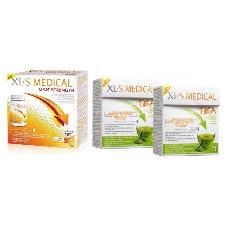XLS Medical Pack Max Strenght/Extra Fort (120 comprimés) + Thé (2x30 pièces)