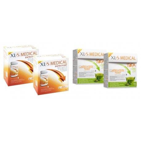 XLS Medical Pack Max Strenght/Extra Fort (2x120 comprimés) + Thé (2x30 pièces)