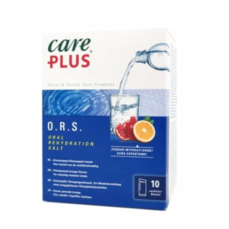 Care Plus ORS Saveur Grenade/Orange 10 sachets