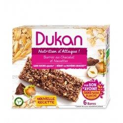 Dukan Barres Chocolat et Noisettes 6 Barres