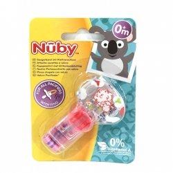 Nûby Attache-Sucettes à Velcro Garçon +0m (motifs variables)