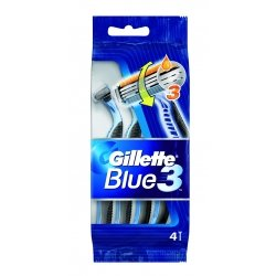 Gillette Blue 3 - 4 Rasoirs Jetable