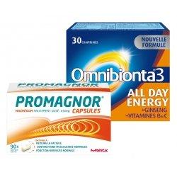 Omnibionta Pack Omnibionta 3 All Day Energy 30 comp + Promagnor Magnésium 90 caps
