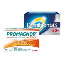 Omnibionta Pack Omnibionta 3 50+ 90 comp + Promagnor Magnésium 30 caps