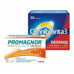 Omnibionta Pack Omnibionta 3 Défense 30 comp + Promagnor Magnésium 90 caps