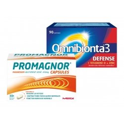 Omnibionta Pack Omnibionta 3 Défense 90 comp + Promagnor Magnésium 30 caps
