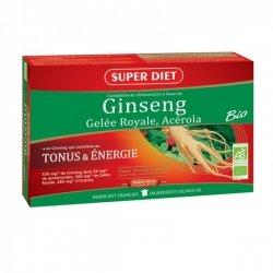 Superdiet Ginseng Gelée Royale Acélora Bio 20 ampoules de 15ml