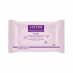 Cattier Gynea Lingettes Fraîcheur Bio x12