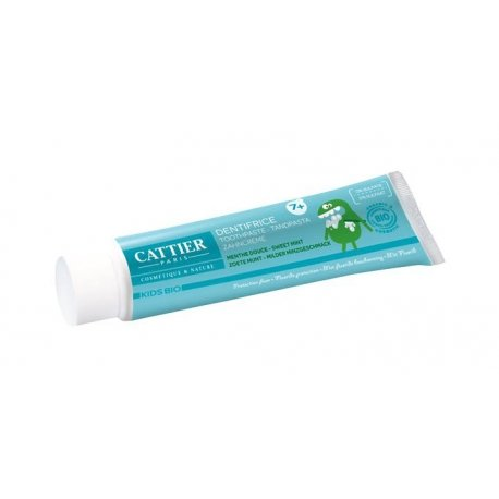 Cattier Kids Bio Dentifrice Enfant +7 Ans Goût Menthe Douce - Protection Fluor 50ml