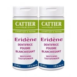 Cattier Duo Pack Eridène Dentifrice Poudre Blanchissante 2x40g