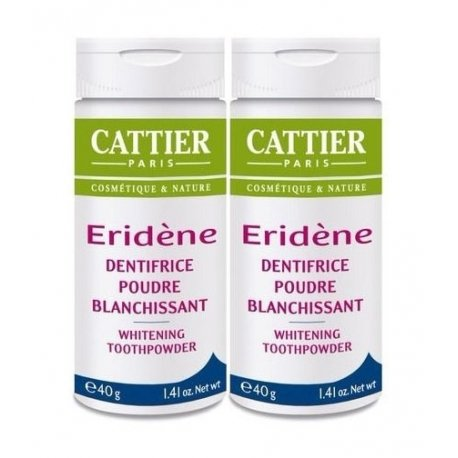Cattier Duo Pack Eridène Dentifrice Poudre Blanchissante 2x40g