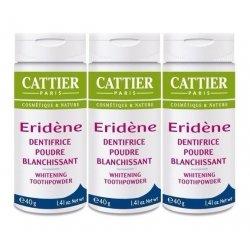 Cattier Trio Pack Eridène Dentifrice Poudre Blanchissante 3x40g
