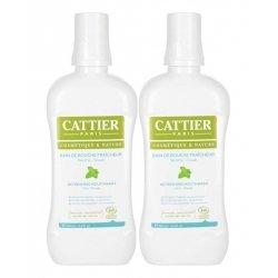 Cattier Duo Pack Bain de Bouche Fraîcheur Menthe - Souak Bio 2x500ml