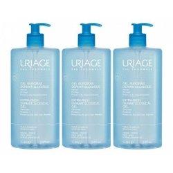 Uriage Trio Pack Gel Surgras Dermatologique Peaux Sensibles 3x1L