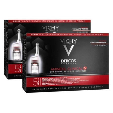 Vichy Dercos Aminexil Clinical Duo Pack 5 Hommes Traitement Anti-Chute 2x21x6ml