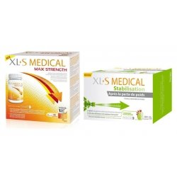XLS Medical Pack Max Strength/Extra Fort (120 comprimés) + XLS Medical Stabilisation 180 comprimés