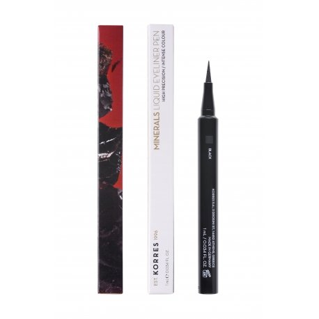 Korres KM Minerals Liquid Eyeliner Pen 01 Black 1ml