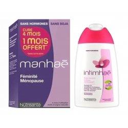 Manhaé Promopack 120 comprimés cure 4 mois + Intimhaé Soin Lavant Apaisant 200ml Offert