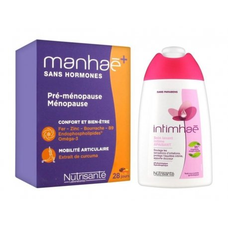 Manhaé+ Sans Hormones 56 caps + Intimhaé Soin Lavant Apaisant 200ml Offert