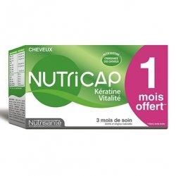Nutrisanté Nutricap Kératine Vitalité 90 gélules 1 Mois OFFERT