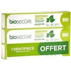 Bio Secure Dentifrice au Fluor 75ml 2 + 1 gratuit