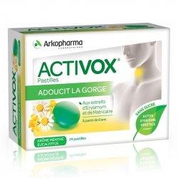 Arkopharma Activox Voies Respiratoires Arôme Planes Alpestres 24 pastilles