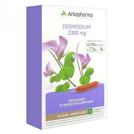 Arkopharma Desmodium 2300 mg Détoxifiant et Protecteur Hépatique 20 ampoules