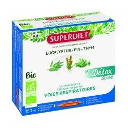 Superdiet Ma Détox Ciblée Voies Respiratoires Bio 10 Ampoules