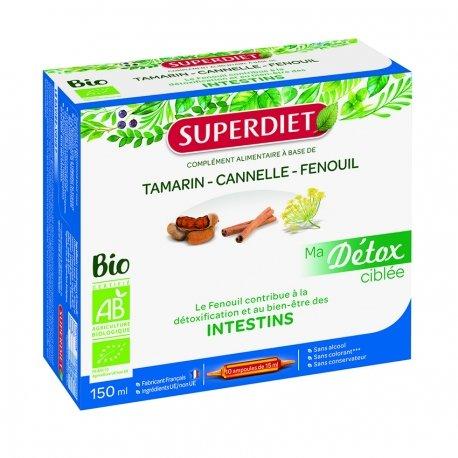 Superdiet Ma Détox Ciblée Intestins Bio 10 ampoules