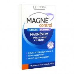 Nutreov Magné Control Stress-Sommeil 15 Gélules Jour + 15 Gélules Nuit