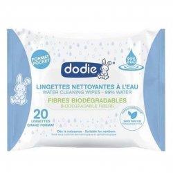 Dodie Lingettes Nettoyantes à l'Eau Grand Format x20