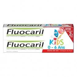 Fluocaril Kids Dentifrice Gel Fraise 0-6 ans Offre Spéciale 2 x 50ml