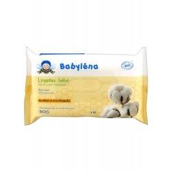 Babylena Lingettes Bébé en Coton 100% Bio x60 Lingettes