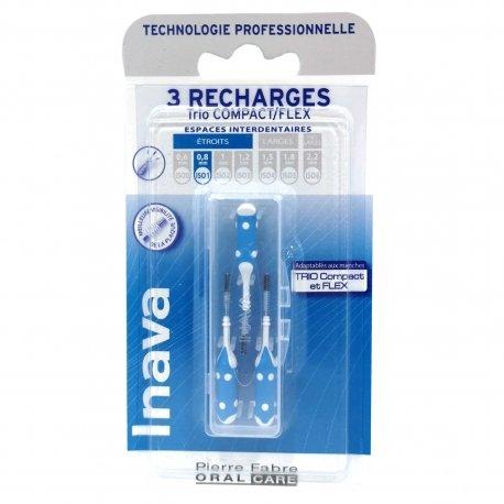 Inava 3 Recharges Trio Compact/Flex Espaces Interdentaires Etroits 0,8mm
