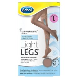 Scholl Collants Light Legs 20 Den Noir L