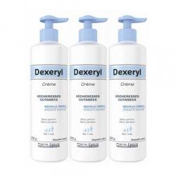 Dexeryl Crème Peaux Sèches 3 X 500g