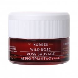 Korres Face Rose sauvage Creme hydratation 24h Peau grasse à mixte 40ml