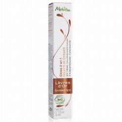 Melvita Gloss 2 en 1 Nourrit et Embellit Lèvres d'Or 4ml