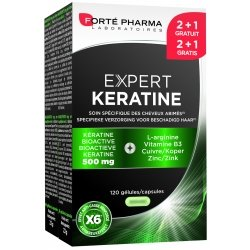 Forte Pharma Expert kératine 2 + 1 gratuit 120 caps
