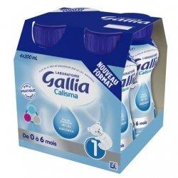 Gallia Calisma Lait Prêt A L'Emploi 0-6 Mois 4x200ml