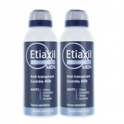Etiaxil Déodorant Men Anti-Transpirant 48h Aérosol Duo Pack 2x 150ml