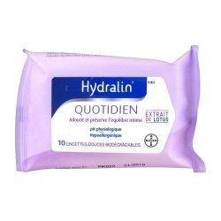 Hydralin Quotidien Lingettes Intimes Biodégradables 10 pièces